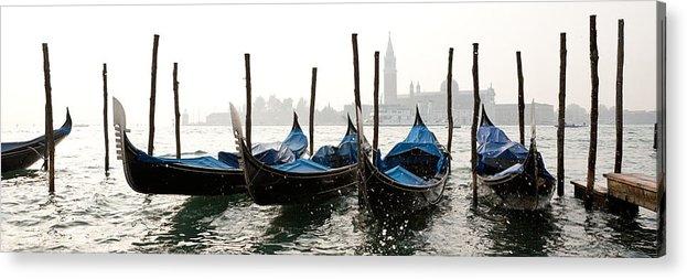 Venezia Acrylic Print featuring the photograph Gondole In Bacino 2078 by Marco Missiaja