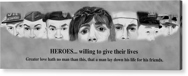 911 Acrylic Print featuring the drawing Heroes by Michael McFerrin