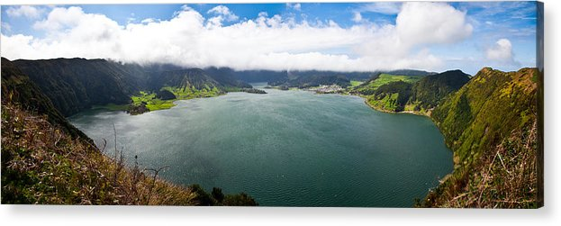 Lake Acrylic Print featuring the photograph Lake Of Sete Cidades by Nelson Mineiro