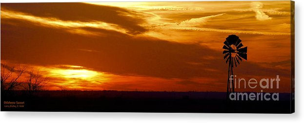 Landscape Acrylic Print featuring the photograph Oklahoma Sunset by Larry Keahey