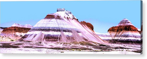 Photography Acrylic Print featuring the photograph Painted Desert 0289 by Sharon Broucek