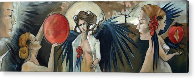 Angels Acrylic Print featuring the painting Sketchbook Processional by Jacque Hudson