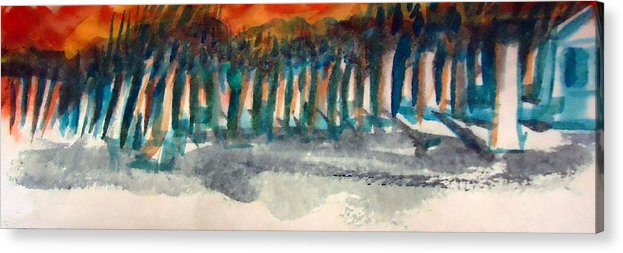 Woods Acrylic Print featuring the painting Woodside by Steven Holder