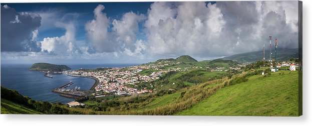 Azores Acrylic Print featuring the photograph Portugal, Azores, Faial Island, Horta by Walter Bibikow