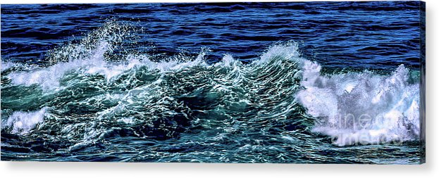 La Jolla Acrylic Print featuring the photograph Big Surf Pano by Stefan H Unger