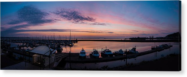 Europe Acrylic Print featuring the photograph The Harbour Lights by Ollie Taylor