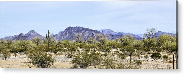 Photography Acrylic Print featuring the photograph Maricopa Mountains Panorama by Sharon Broucek