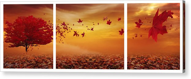 Maple Tree Acrylic Print featuring the photograph Nature's Art by Lourry Legarde