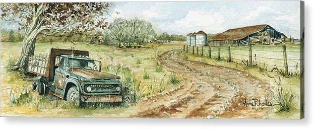 Truck Acrylic Print featuring the painting Old Friend by Anne Rhodes