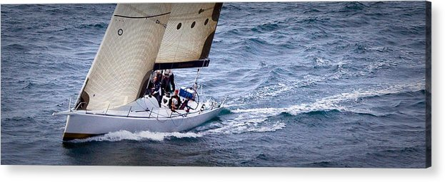 Sailing Acrylic Print featuring the photograph Sailing On The Straits by Sandy Buckley