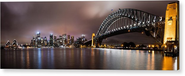 Sydney Acrylic Print featuring the photograph Sydney Harbor by Steven Hirsch