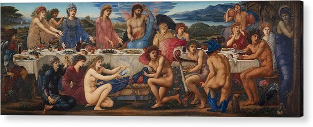 The Feast Of Peleus Acrylic Print featuring the painting The Feast Of Peleus by Edward Burne-Jones