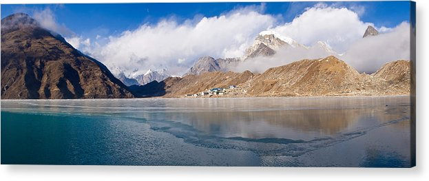 Photography Acrylic Print featuring the photograph Lake With Mountains In The Background by Panoramic Images