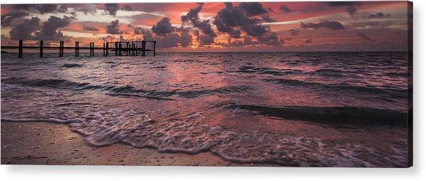 3scape Photos Acrylic Print featuring the photograph Marathon Key Sunrise Panoramic by Adam Romanowicz
