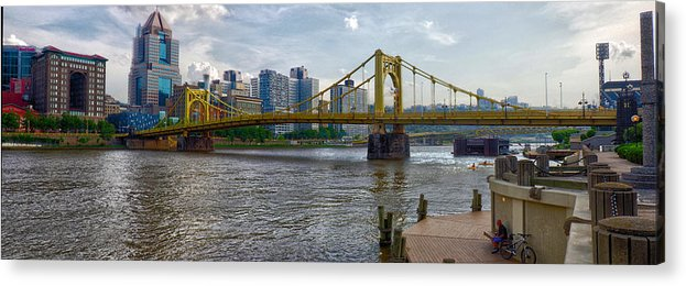 Clemente Acrylic Print featuring the photograph Pittsburgh Clemente Bridge by C H Apperson