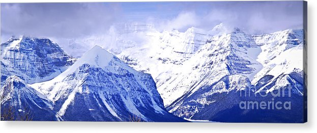 Mountain Acrylic Print featuring the photograph Snowy Mountains by Elena Elisseeva