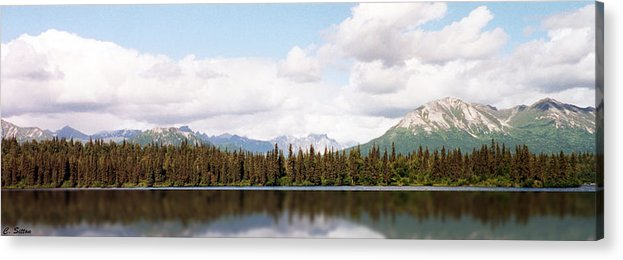 Alaska Photographs Acrylic Print featuring the photograph Alaskan Reflections by C Sitton
