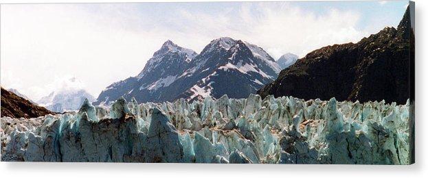 Margerie Glacier Photographs Acrylic Print featuring the photograph Margerie Glacier View by C Sitton