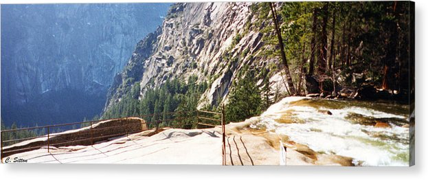 Ernal Falls Photographs Acrylic Print featuring the photograph Top Of Vernal Falls by C Sitton