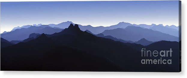 Blue Ridge Mountains Acrylic Print featuring the photograph Blue Ridge Mountains. Pacific Crest Trail by David Zanzinger