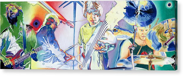 Phish Acrylic Print featuring the drawing Coventry Phish by Joshua Morton