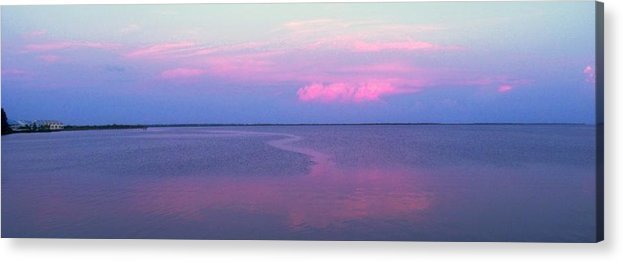 Sunset Acrylic Print featuring the photograph Pink Path by Ian MacDonald