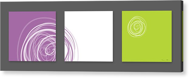Abstract Acrylic Print featuring the digital art Purple Twirl by Nomi Elboim
