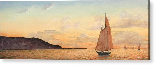 Seascape Acrylic Print featuring the painting Returning Home by Stephen Bluto