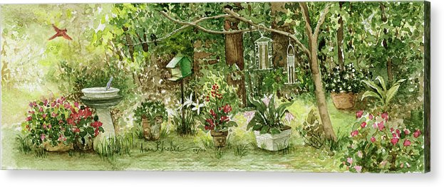 Nature Acrylic Print featuring the painting Sanctuary by Anne Rhodes