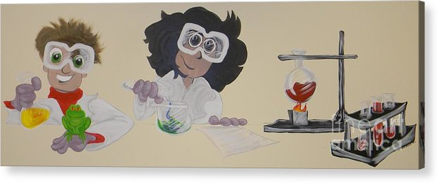 Science Lab Acrylic Print featuring the painting Science Lab by Michelle Black