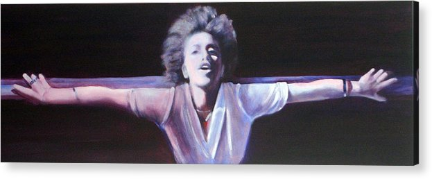 Woman Acrylic Print featuring the painting Surrender by Fiona Jack