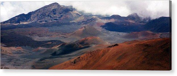 Hawaii Photographs Acrylic Print featuring the photograph Haleakala Volcano by C Sitton