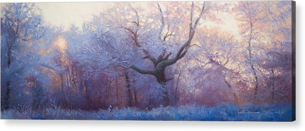 Portraits Acrylic Print featuring the painting Wonderland by Jonathan Howe