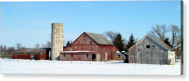 Farm Acrylic Print featuring the photograph 020309-70 by Mike Davis