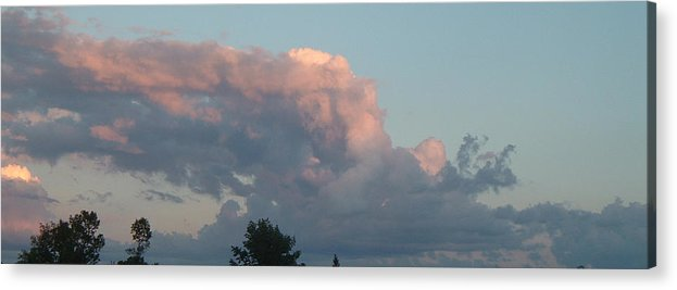 Sky Acrylic Print featuring the photograph Atmospheric Barcode 04 08 2008 1 by Donald Burroughs