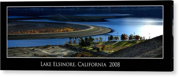 Lake Acrylic Print featuring the photograph Lake Elsinore Sunset by Richard Gordon