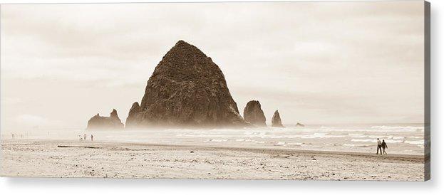 Rock Acrylic Print featuring the photograph Walk Along The Ocean by Sabrina Hall