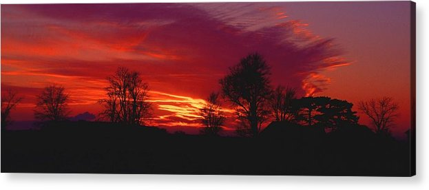 Sunset Acrylic Print featuring the photograph 022107-37 by Mike Davis