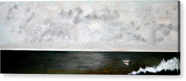 Boats Acrylic Print featuring the painting Be Still by Gigi Desmond
