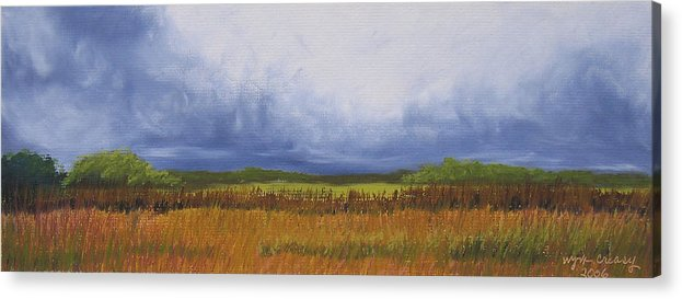 Virginia Landscape Acrylic Print featuring the painting Brewing Storm Clouds by Wynn Creasy