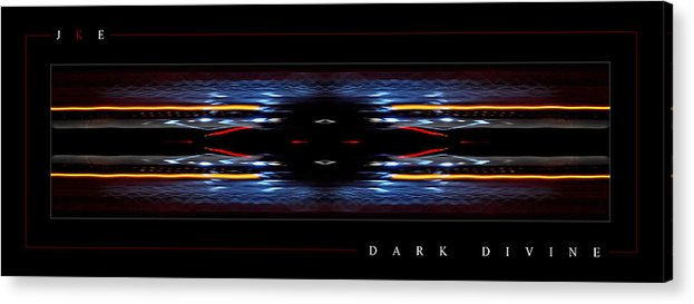 Abstract Acrylic Print featuring the photograph Dark Divine by Jonathan Ellis Keys