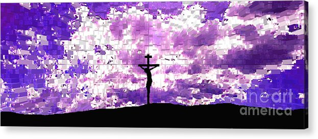Jesus Crucifiction Acrylic Print featuring the photograph Father Forgive Them by Ed Moore