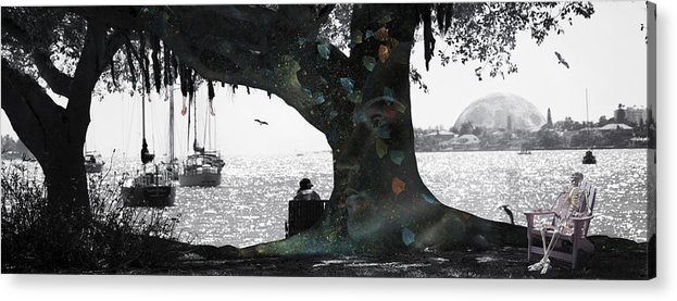 Skeleton Acrylic Print featuring the digital art Deeply Rooted by Betsy Knapp