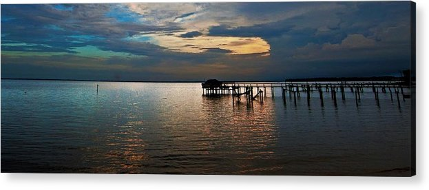 Coastal Framed Prints Acrylic Print featuring the photograph Twilight On The Neuse River by John Harding