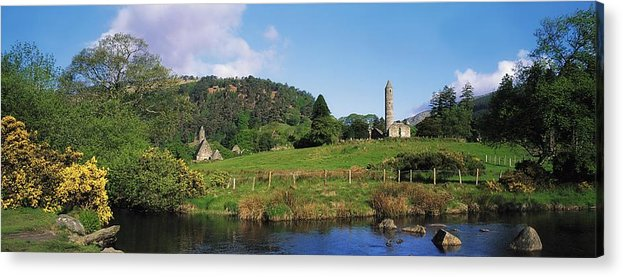 Co Wicklow Acrylic Print featuring the photograph Glendalough, Co Wicklow, Ireland Saint by The Irish Image Collection