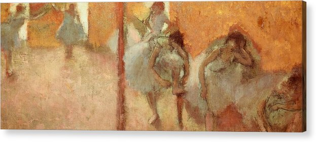 Art Acrylic Print featuring the painting Dancers by Edgar Degas