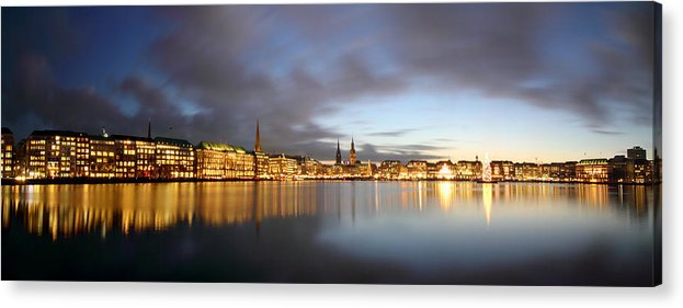 Hamburg Acrylic Print featuring the photograph Hamburg Alster Christmas Time by Marc Huebner