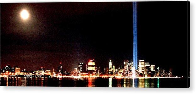New York Acrylic Print featuring the photograph A City's Lights by Richard Gerken