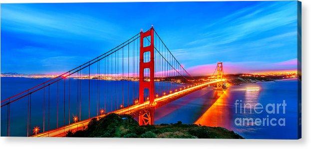 Golden Gate Bridge Acrylic Print featuring the photograph Follow The Golden Trail by Az Jackson