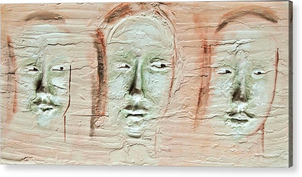 Portraits Acrylic Print featuring the painting Faces by Kime Einhorn